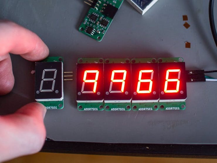 Addressable 7-Segment Displays Simplify Project Wiring ... on