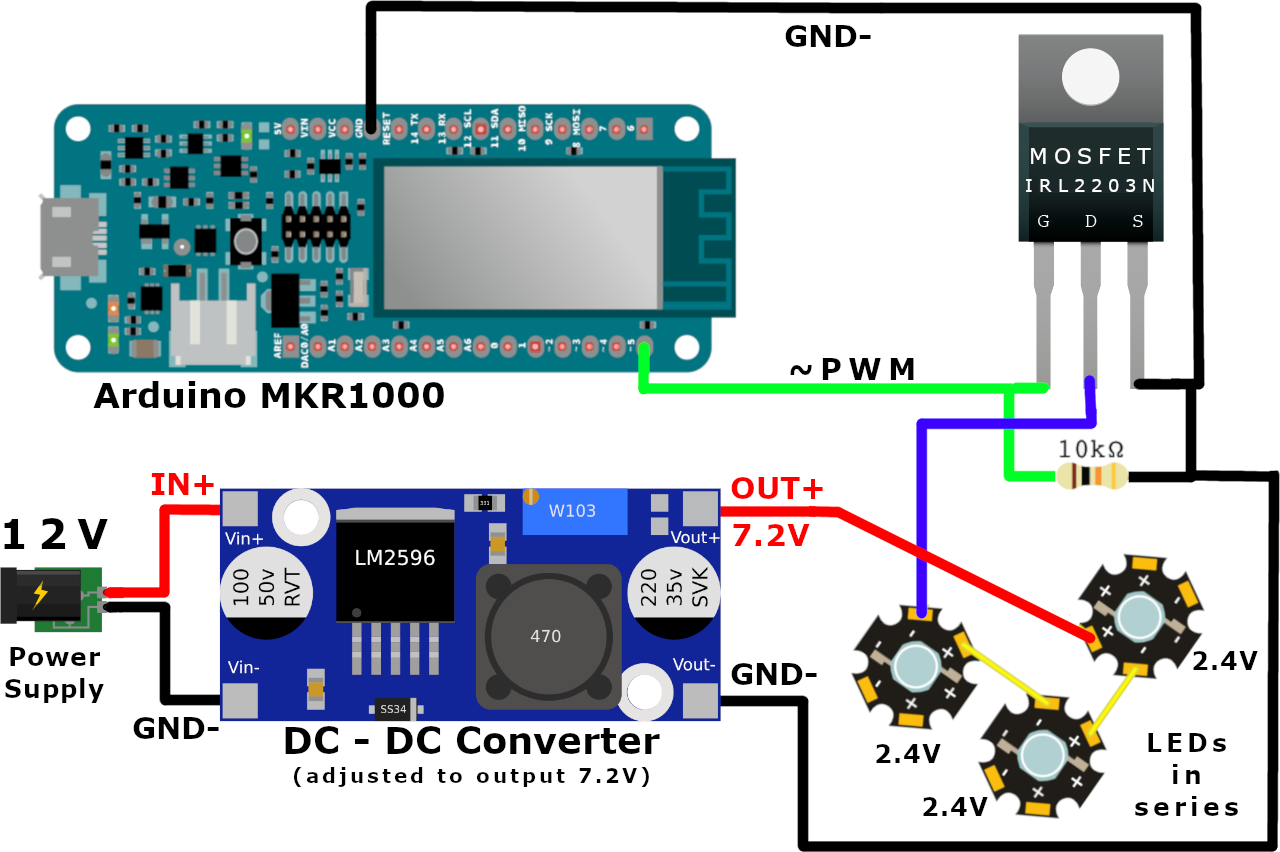 Similar To The Led Fade Out Dimmer Multiple Leds Can Be Connected In
