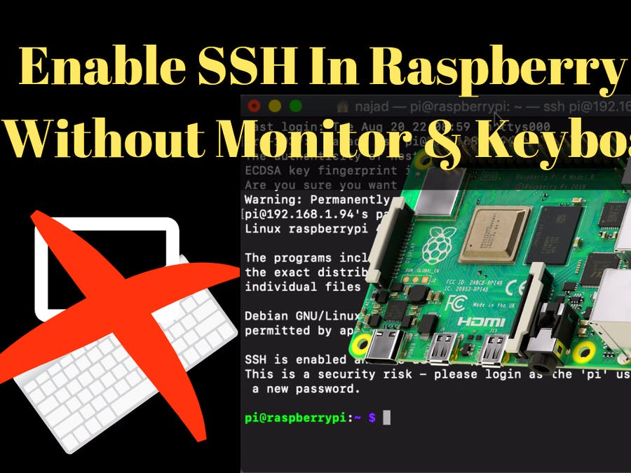 Enable SSH On​ Raspberry Pi Without Monitor & Keyboard