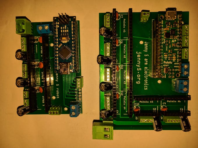 New and old electronics for arm.
