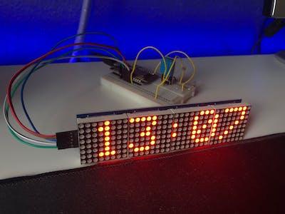 ESP8266 Clock Using MAX7219 LED Matrix Display