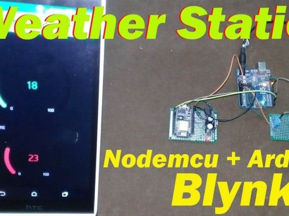 IoT Weather Station Project with NodeMCU ESP8266 and Arduino