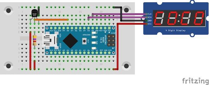 Figure 1 - Schematic Circuit of the Temperature Indicator.