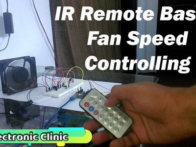 Arduino IR Remote based Fan speed controlling, Library, c...
