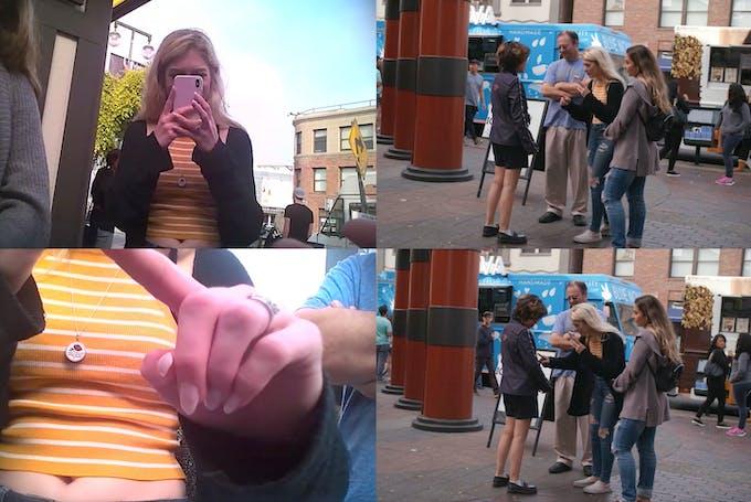 Interaction in public area