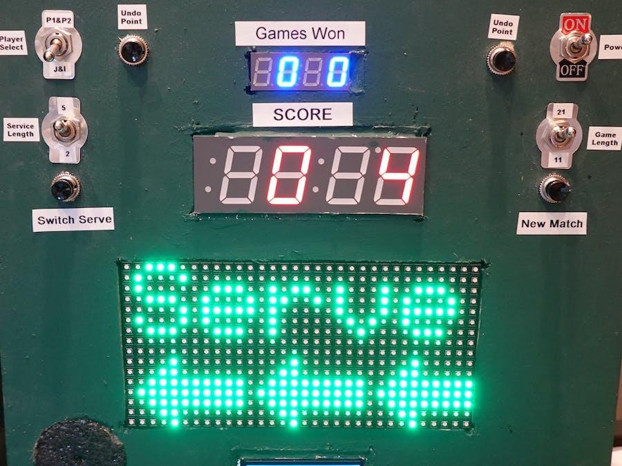 Animated Ping Pong Scoreboard