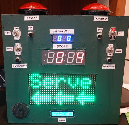 The Ping Pong Scoreboard (I've since added a 2nd speaker for stereo)