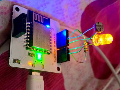 Bolt-Based Smart Light Control Equipped with Photoresistor