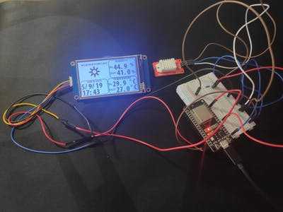 ESP32- DHT22 - Nextion Display Weather Station