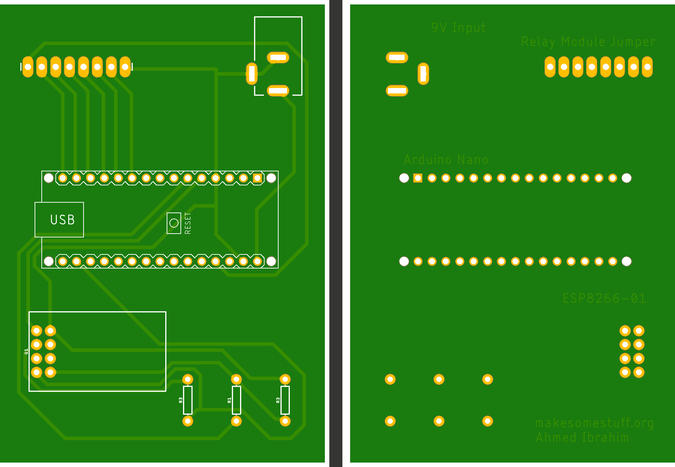 Bottom and Top Layer PCB Image