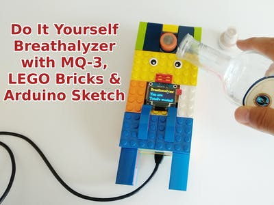Do It Yourself Breathalyzer with MQ-3 & LEGO Bricks