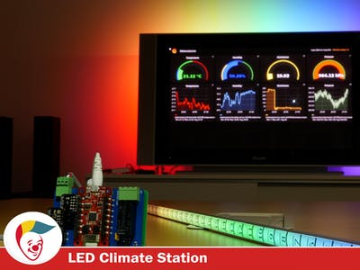 LED Strip Thermometer with BigClown