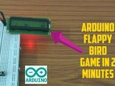 Make Arduino Flappy Bird Game in 2 Minutes with Code || LCD