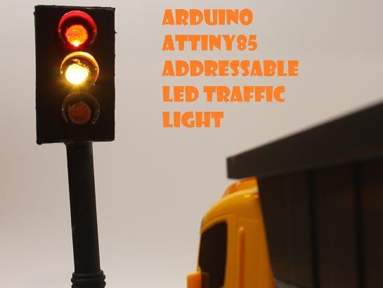 DIY ATtiny85 Digispark-Inspired Traffic Light