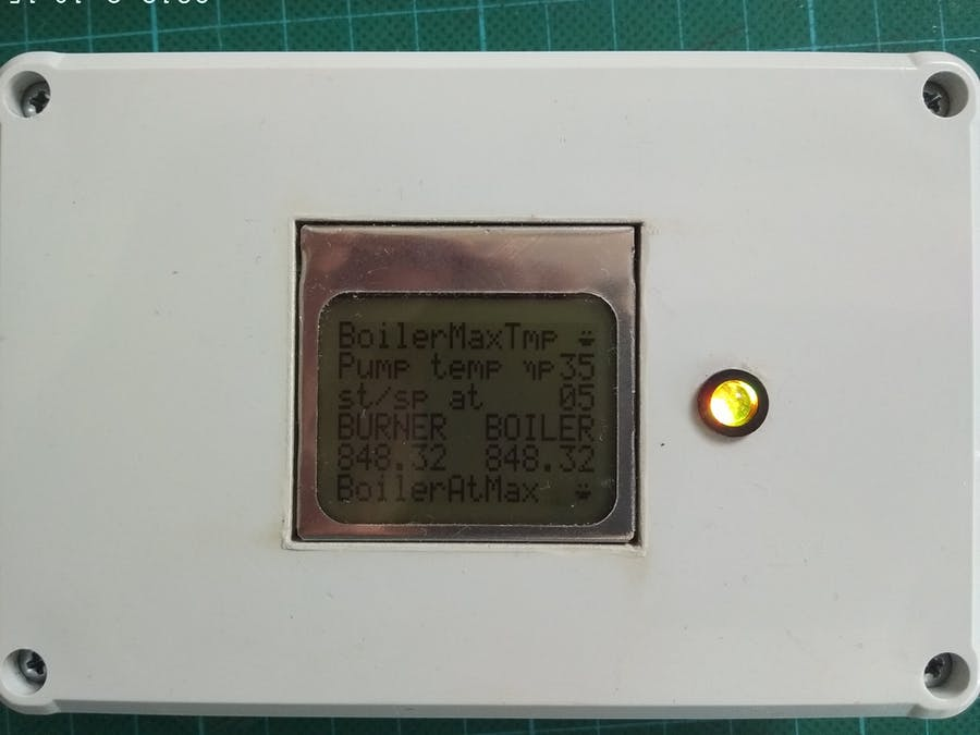 Digital Thermostat for Burner and Hot Water Boiler