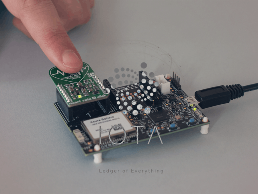 Distributed Health Record Using IoT and IOTA