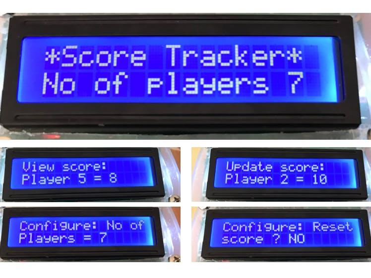 Multi Player Score Tracker
