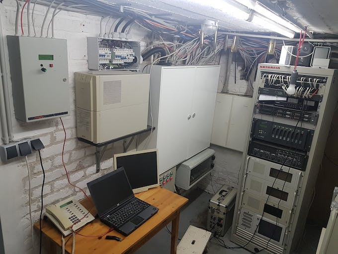 Server room with UPS (Uninterruptible Power Supply)