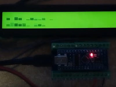 2 x 16-Band Audio Spectrum Analyzer with LCD