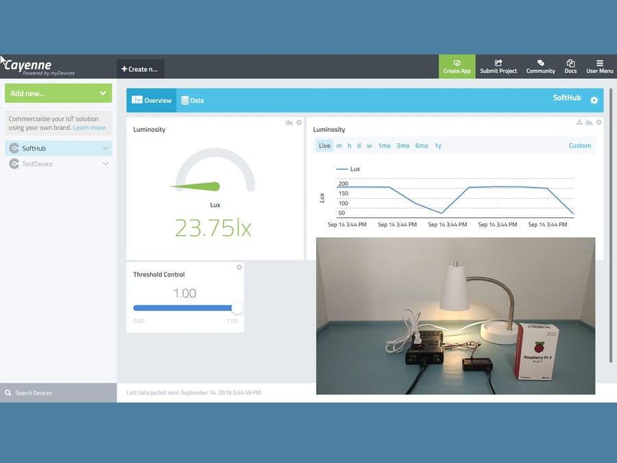 Actuating Devices via a Versatile User Configurable IoT Hub