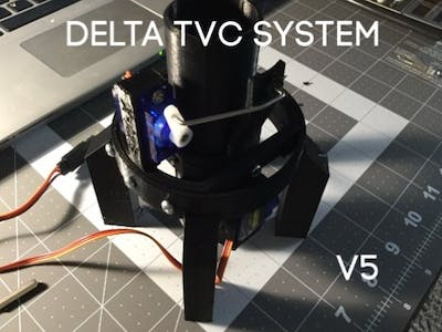Delta Thrust Vector Control Rocket Guidance System