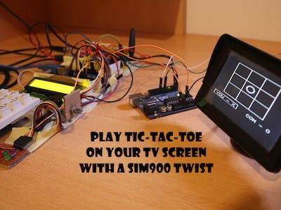 Play Tic-Tac-Toe on Your TV Screen - with a SIM900 Twist