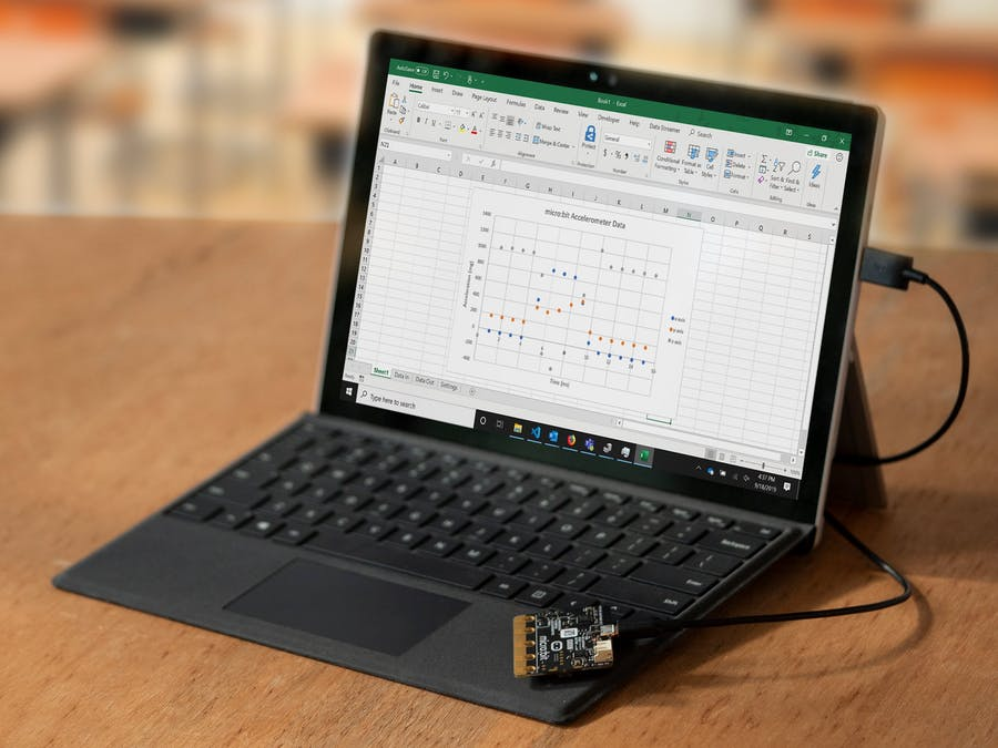 Visualize Data in Excel with micro:bit and MakeCode