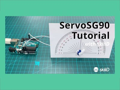 "How to Use SG90 Servo Motor with ""skiiiD"""
