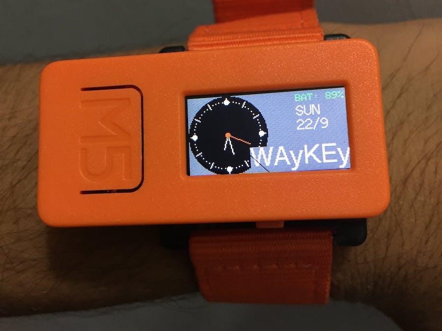 M5 Smart Watch-Using DEEP SLEEP function to increase Battery