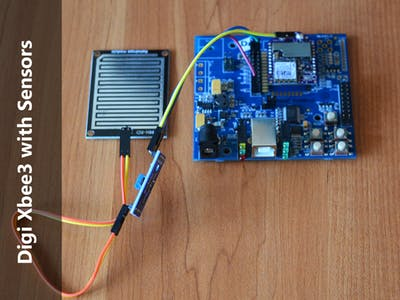 DIGI XBEE3 with Rain Drop Sensor