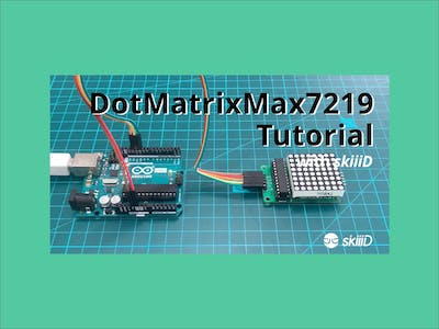 "How to Use Max7219 8x8 Dot Matrix with ""skiiiD"""