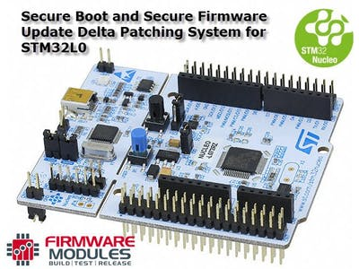 Secure Delta Patch Firmware Update for STM32L0