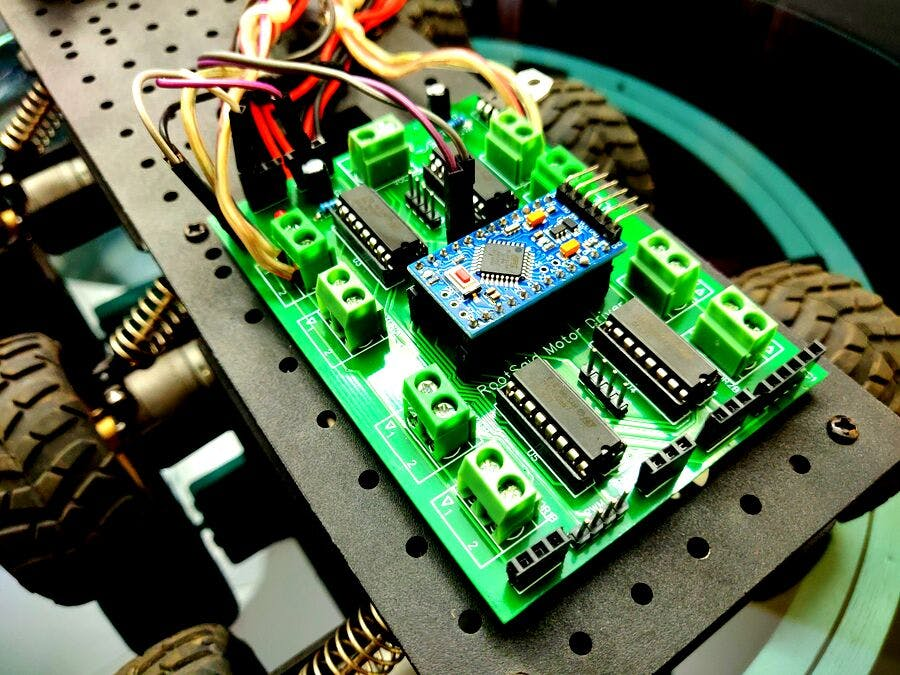 Arduino Motor Shield PCB V1 | 4 Motors at Once