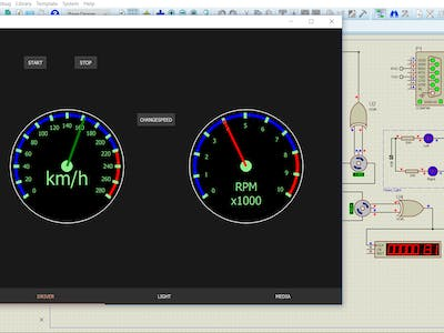 QT Framework Display Motor Speed Simulator by Proteus