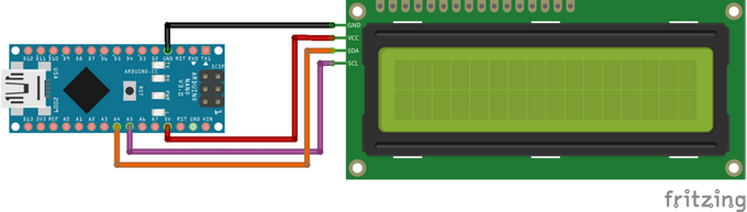 Circuit Diagram for the LCD