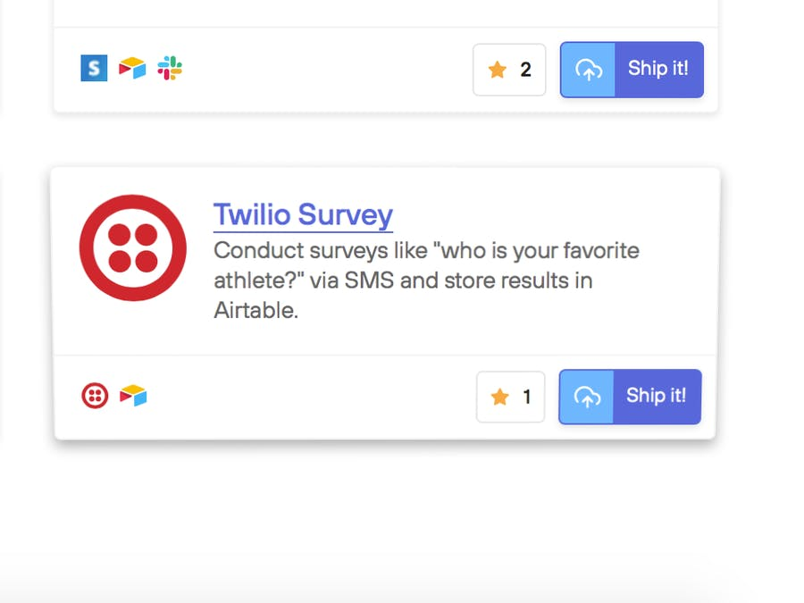 Send SMS Surveys with Twilio + Airtable on Standard Library
