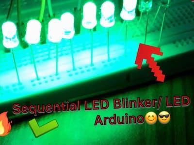 Arduino LED Chaser|| Sequential LED Blinker || Chaser LED