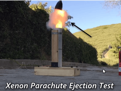 Rocket Parachute Ejection System