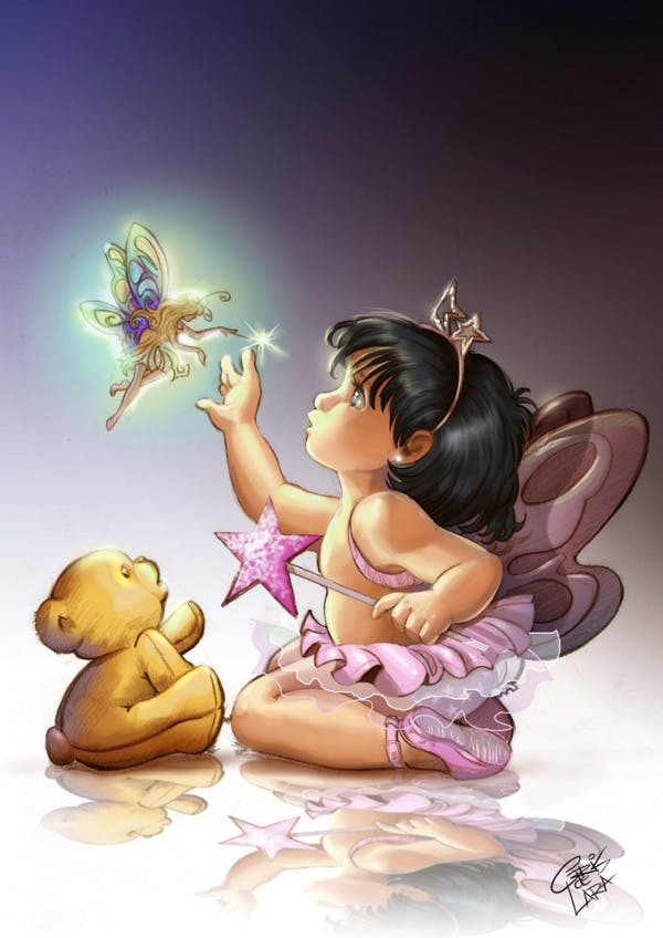 Fairy meeting by cris de lara