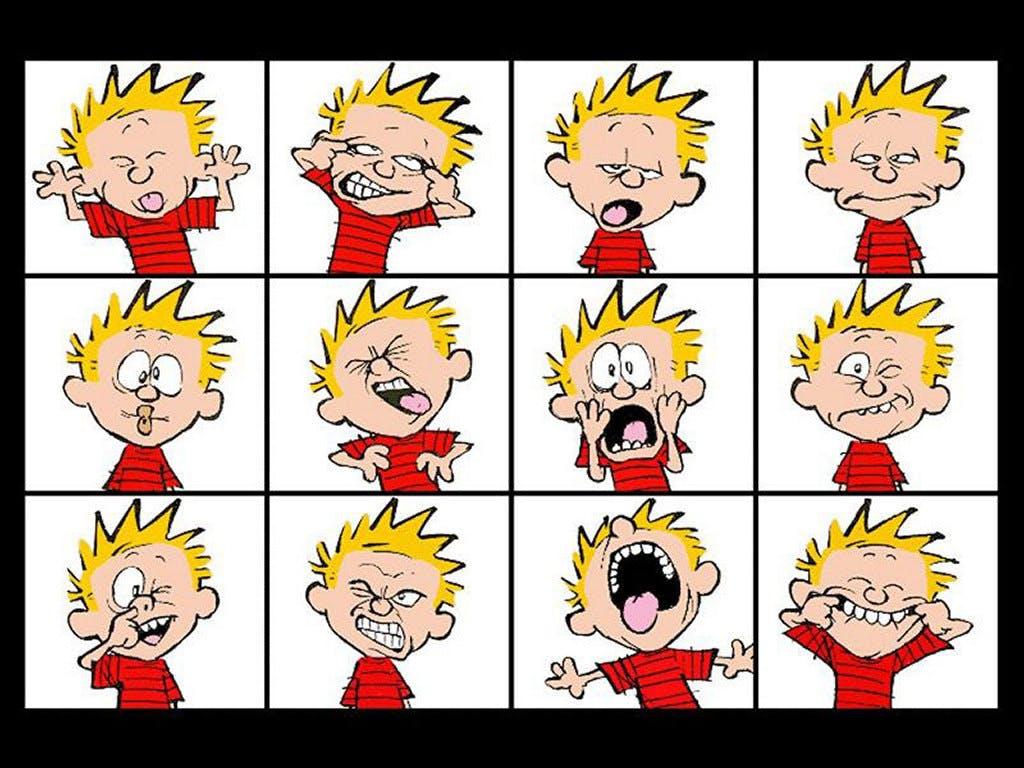 Calvin faces calvin  26 hobbes 116945 1024 768
