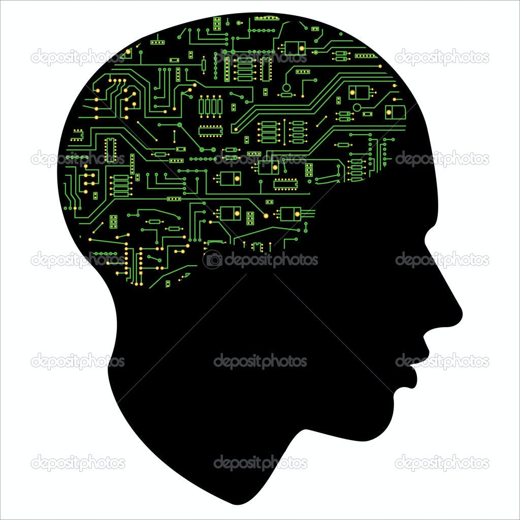 Depositphotos 2895405 silhouette head motherboard