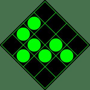 300px green circles on black sixteen blocks