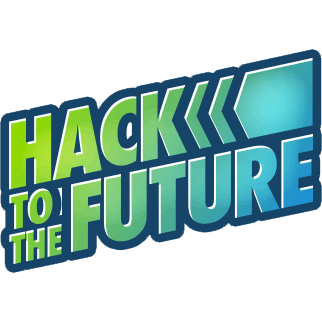 Hack to the future logo square