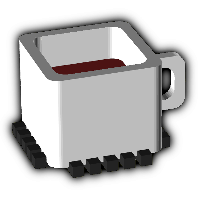 Logo square blur