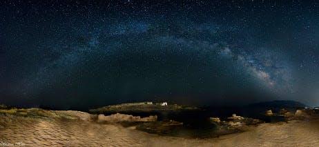 Milky way   skyros island  greece  07 21 15