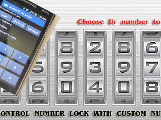 Smart BT Lock with Custom Number