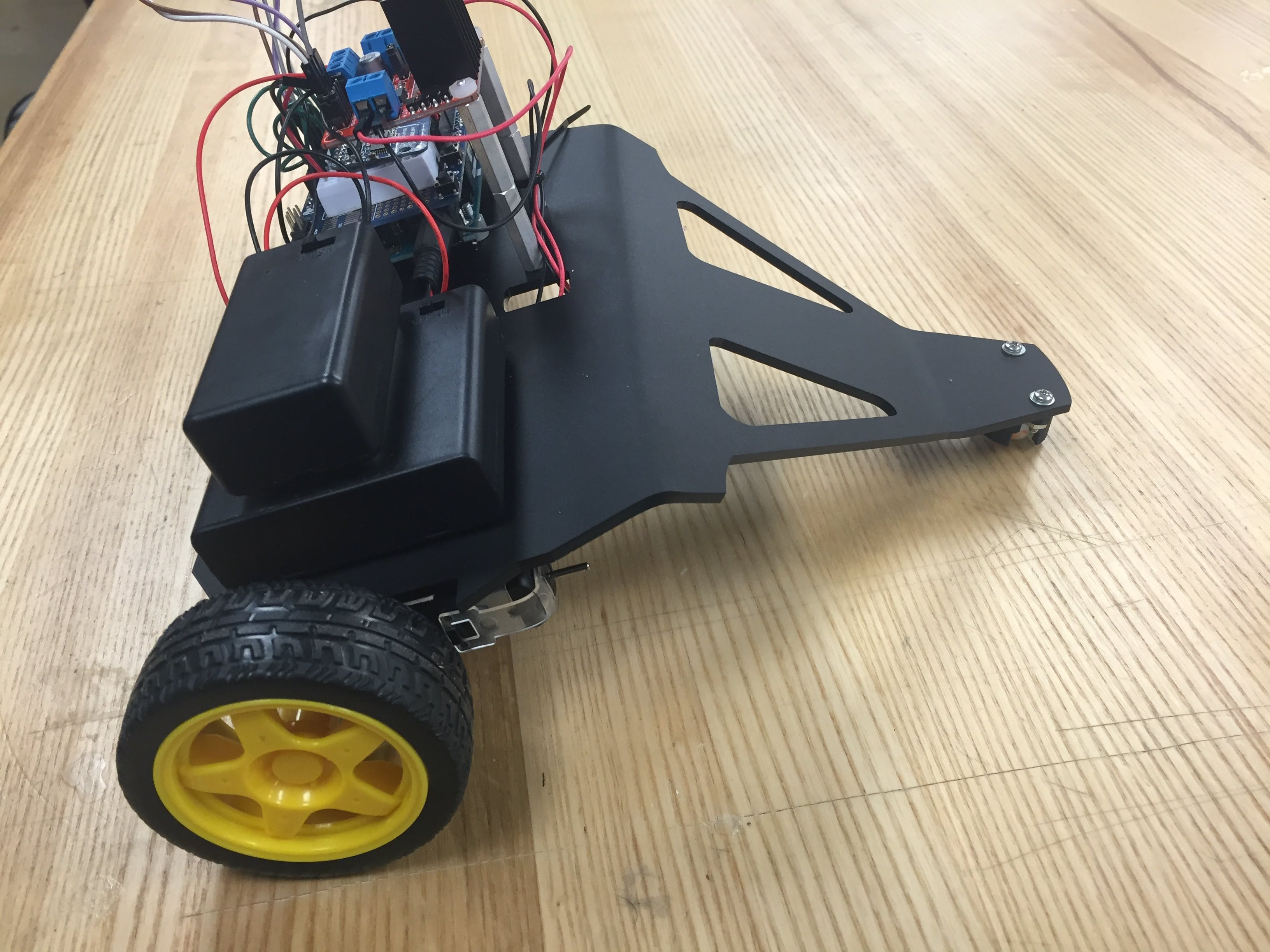 Final Remote Controlled Car with Revised Chassis
