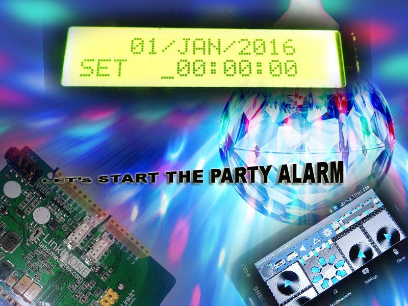 Light and Music Party Start Alarm using BT Settings