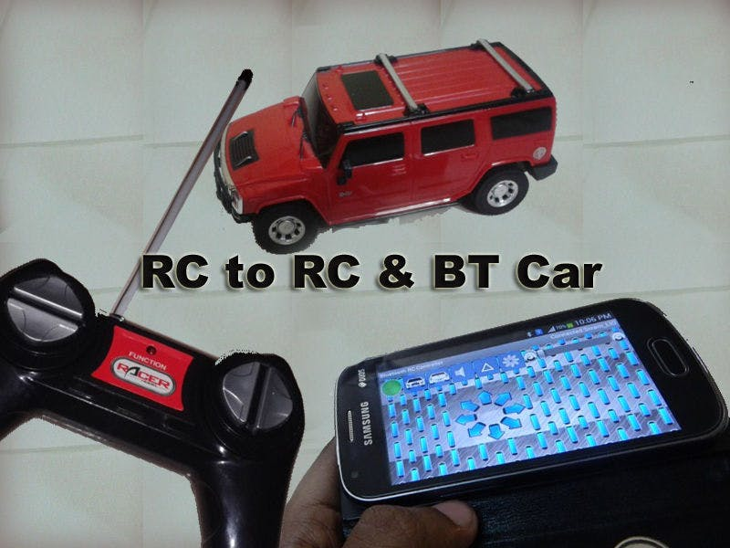 Easy Hack RC to RC and BT Car Using Linkit One