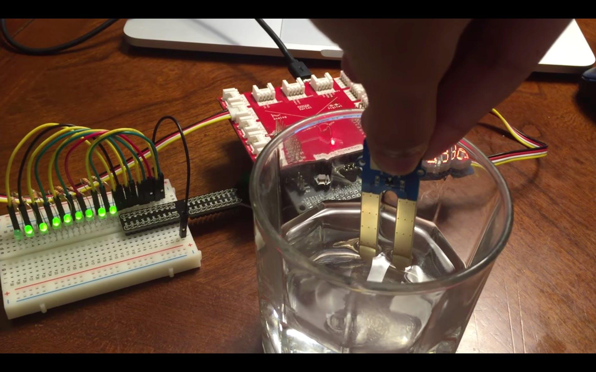 Moisture Sensing LED Gauge